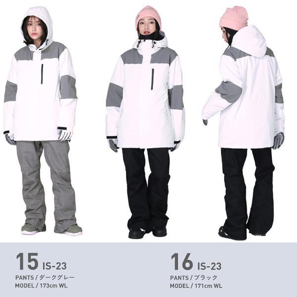 スノーボードウェア スキーウェア レディース スノボウェア ボードウェア 上下セット ジャケット パンツ IDD icepardal/アイスパーダル|ocstyle|14