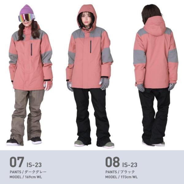 スノーボードウェア スキーウェア レディース スノボウェア ボードウェア 上下セット ジャケット パンツ IDD icepardal/アイスパーダル|ocstyle|10