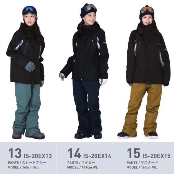 新作即納 スノーボードウェア スキーウェア レディース スノボウェア ボードウェア 上下セット ジャケット パンツ IX icepardal/アイスパーダル|ocstyle|12