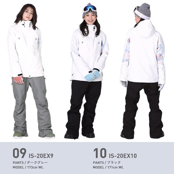 新作予約スノーボードウェア スキーウェア レディース スノボウェア ボードウェア 上下セット ジャケット パンツ IX icepardal/アイスパーダル|ocstyle|10