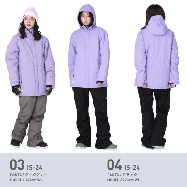新作予約スノーボードウェア スキーウェア レディース スノボウェア ボードウェア 上下セット ジャケット パンツ ISC icepardal/アイスパーダル|ocstyle|08