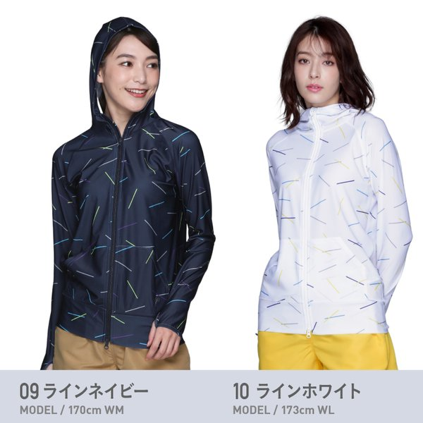 【限定価格】 ラッシュガード レディース パーカー ラッシュパーカー 長袖 体型カバー 水着 UVパーカー フードあり 大きいサイズ  IR7200|ocstyle|11