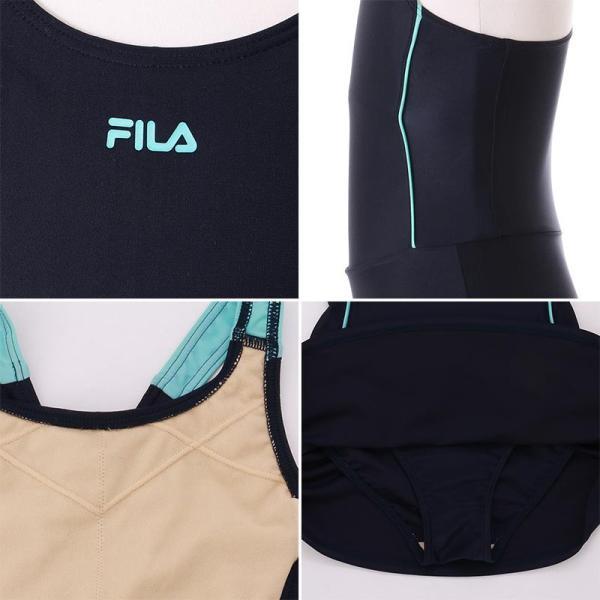 FILA/フィラ キッズ スクール 水着 みずぎ ネイビー 紺 130cm〜170cm サイズ スカート UVカット 121-684|ocstyle|08