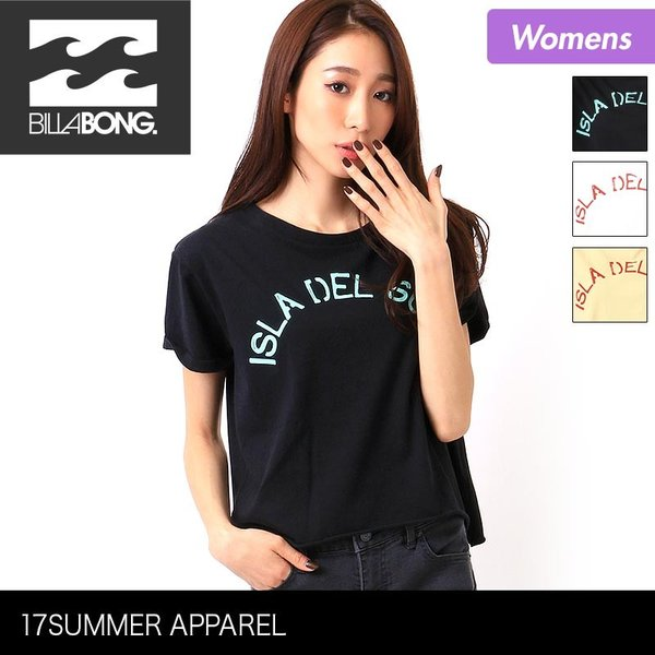 BILLABONG/ビラボン レディース 半袖 Tシャツ ティーシャツ ロゴ ホワイト 白色 プリント AH013-218|ocstyle