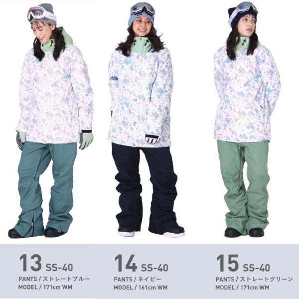 スノーボードウェア スキーウェア レディース スノボウェア ボードウェア 上下セット ジャケット パンツ SSA ScoLar/スカラー|ocstyle|12
