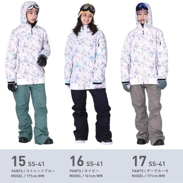 新作即納 スノーボードウェア スキーウェア レディース スノボウェア ボードウェア 上下セット ジャケット パンツ SSB ScoLar/スカラー|ocstyle|13
