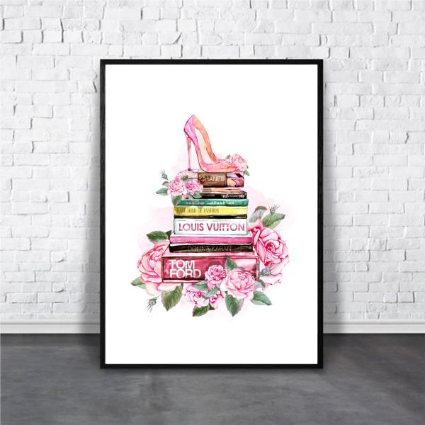 アートポスター/ブランド・北欧風・モダンアート/インテリア用/ガーリーデザイン/A4(210 x 297mm)/ポスターのみ/AP#074|octopus-goods01