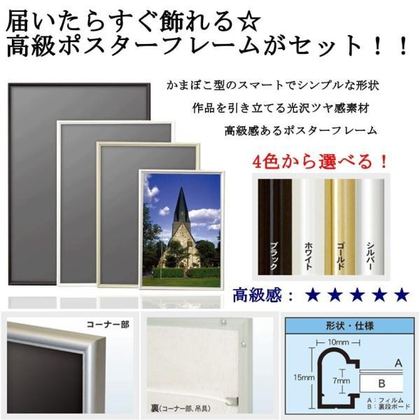 【A4サイズフレームセットへ変更】アートポスター/A4(210 x 297mm)/4色から選べるフレームセット octopus-goods01 02