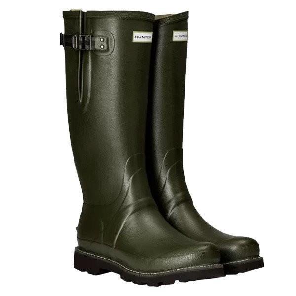 HUNTER(ハンター) BALM SOV POLY LINED SIDE ADJ/DOV/9 MFT9100RPO グリーン レインブーツ ファッション レディースファッション レディースシューズ
