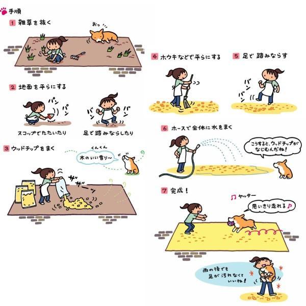 ナチュラルウッドチップ(100L)雑草対策・ドッグラン用 国産 odaiba-gardenclub 08