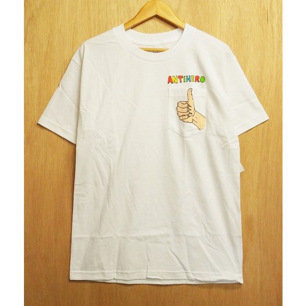 ANTI HERO (アンタイヒーロー,Tシャツ,ポーラスウォーカー) POLOUS WALKER2 S/S POCKET TEE white|oddball-skate-snow