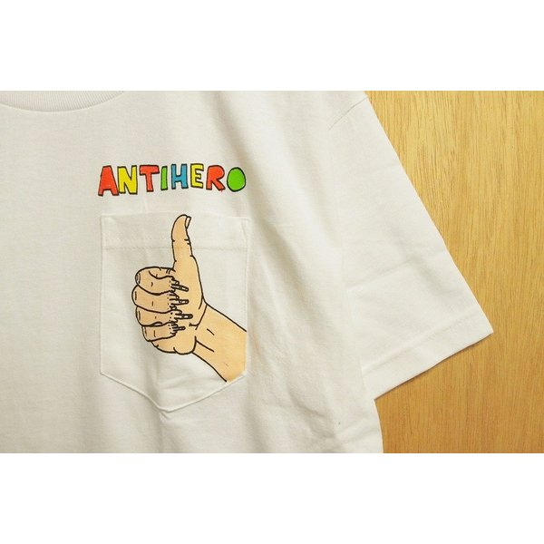 ANTI HERO (アンタイヒーロー,Tシャツ,ポーラスウォーカー) POLOUS WALKER2 S/S POCKET TEE white|oddball-skate-snow|02
