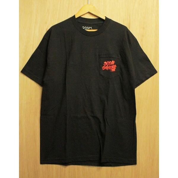 DOOM SAYERS (ドゥームセイヤーズ,ポケットTシャツ) BECKY POCKET TEE black|oddball-skate-snow