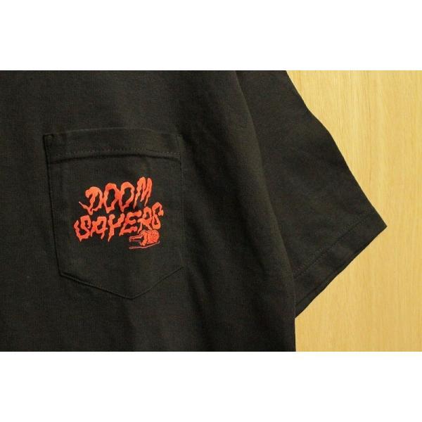 DOOM SAYERS (ドゥームセイヤーズ,ポケットTシャツ) BECKY POCKET TEE black|oddball-skate-snow|02