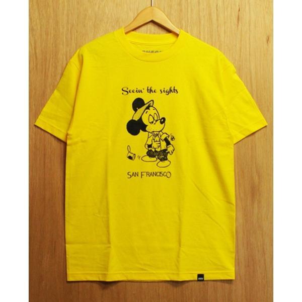 SNACK (スナック,スケート,Tシャツ) SEEIN' THE SIGHTS S/S TEE yellow|oddball-skate-snow