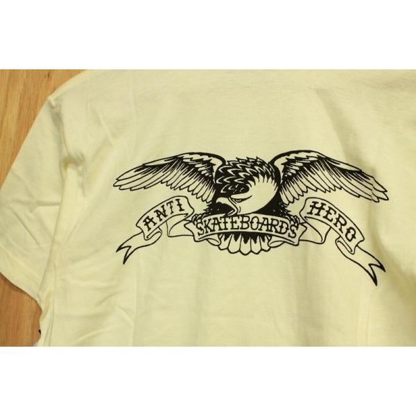 ANTI HERO (アンタイヒーロー,イーグル,Tシャツ) BACK EAGLE S/S TEE natural oddball-skate-snow 03