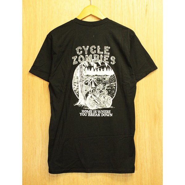 CYCLE ZOMBIES (サイクルゾンビーズ,Tシャツ) CAMP OUT S/S TEE black|oddball-skate-snow