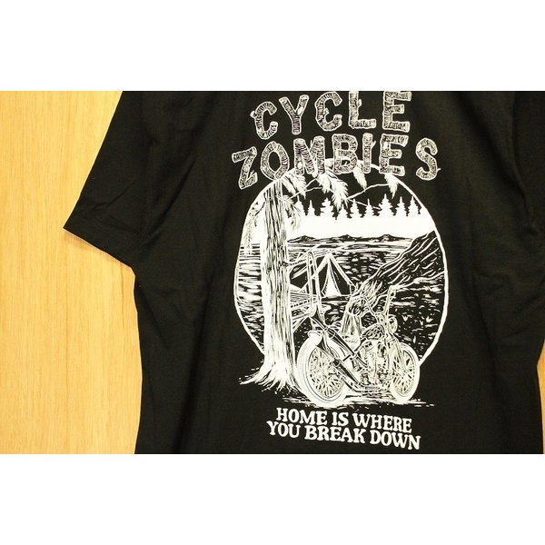 CYCLE ZOMBIES (サイクルゾンビーズ,Tシャツ) CAMP OUT S/S TEE black|oddball-skate-snow|02