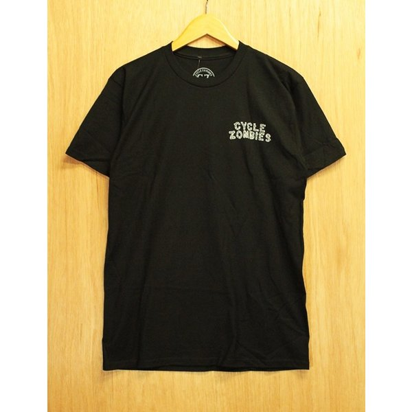 CYCLE ZOMBIES (サイクルゾンビーズ,Tシャツ) CAMP OUT S/S TEE black|oddball-skate-snow|03