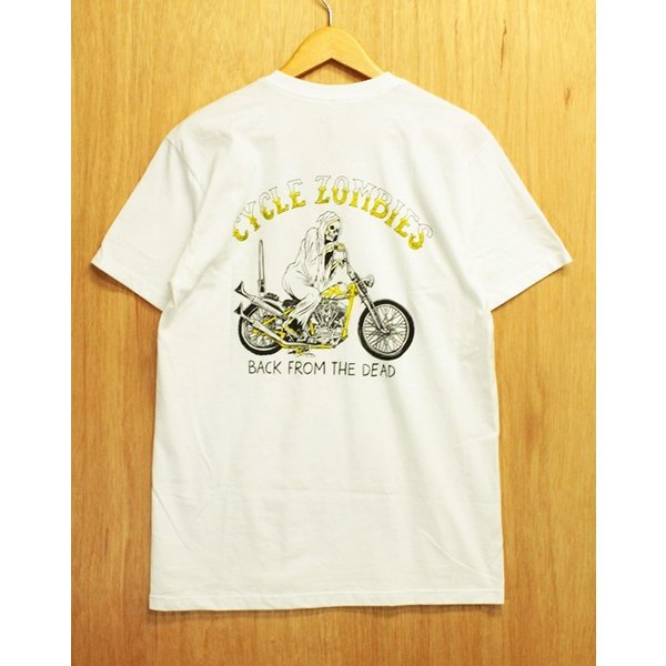 CYCLE ZOMBIES (サイクルゾンビーズ,Tシャツ) YELLOW FEVER S/S TEE white|oddball-skate-snow