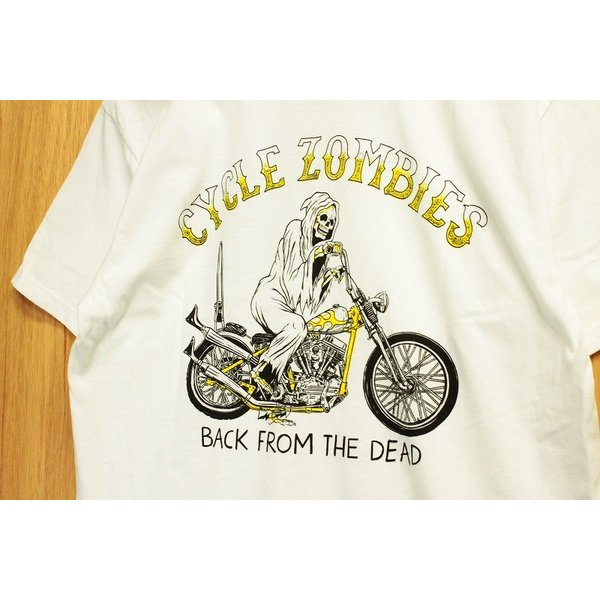 CYCLE ZOMBIES (サイクルゾンビーズ,Tシャツ) YELLOW FEVER S/S TEE white|oddball-skate-snow|02