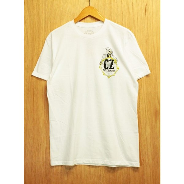 CYCLE ZOMBIES (サイクルゾンビーズ,Tシャツ) YELLOW FEVER S/S TEE white|oddball-skate-snow|03