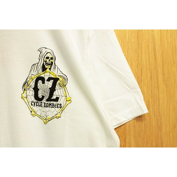 CYCLE ZOMBIES (サイクルゾンビーズ,Tシャツ) YELLOW FEVER S/S TEE white|oddball-skate-snow|04