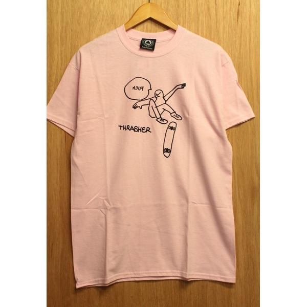 THRASHER (スラッシャー,ゴンズ,Tシャツ) KCUF S/S TEE light pink|oddball-skate-snow