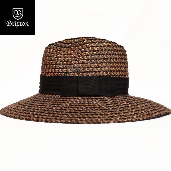 1c83e87578b BRIXTON ブリクストン 麦わら帽子 キャップ ハット JOANNA HAT washed black brown oddball-skate  ...