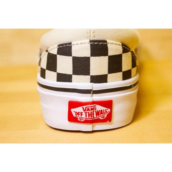 VANS US企画 バンズ スケート スニーカー クラッシックスリッポン チェッカー CLASSIC SLIP-ON  black and white checker/white