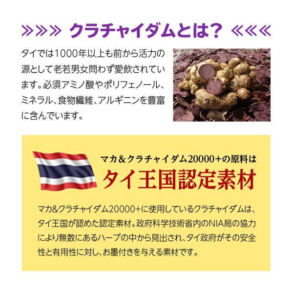 マカ サプリ マカ&クラチャイダム20000プラス 送料無料 ポイント5倍|odecomart|13
