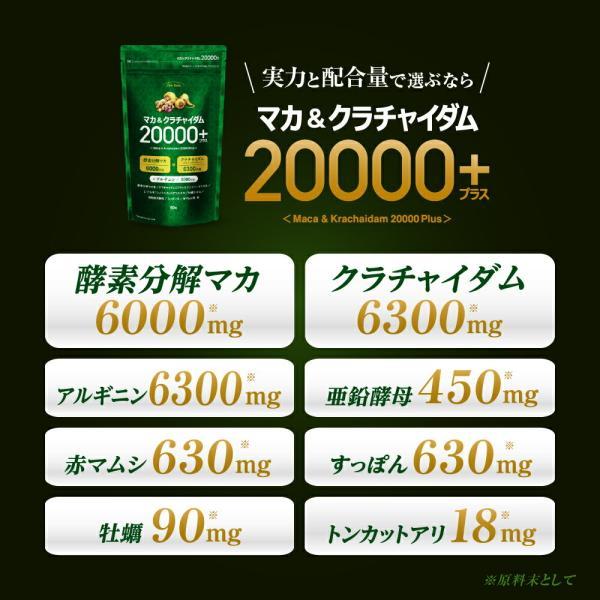 マカ サプリ マカ&クラチャイダム20000プラス 送料無料 ポイント5倍|odecomart|06