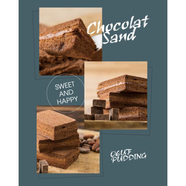生チョコサンド 4個セット 冷凍|oeuf-pudding2|02