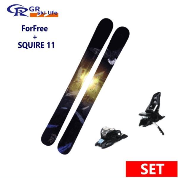 ★GR skilife ForFree+SQUIRE 11 ID BLK スキーボード専門ブランドジーアールスキーライフ ショートスキー板ビンディングセット 日本正規品型落ち 旧モデル