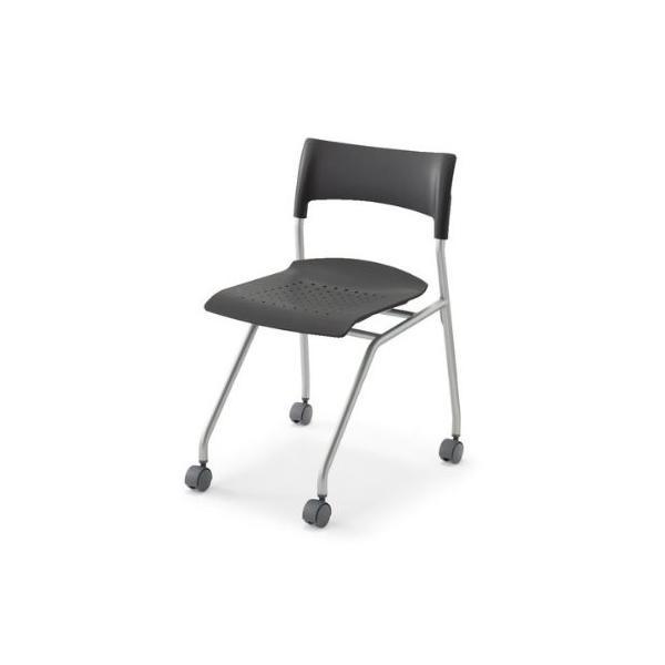 コクヨ   CAMPUS CHAIR 教育施設用家具 キャンパスチェアー 水平スタックタイプ 樹脂カラー E5 キャスター ハード -W