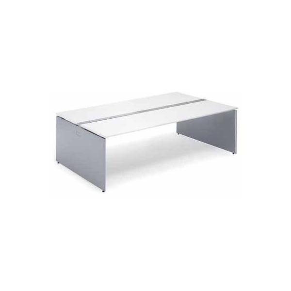 コクヨ   ワークゲート S 独立テーブル 固定式配線カバータイプ 幅1600MM 天板色 PAW ホワイト  脚色 SAW ホワイト