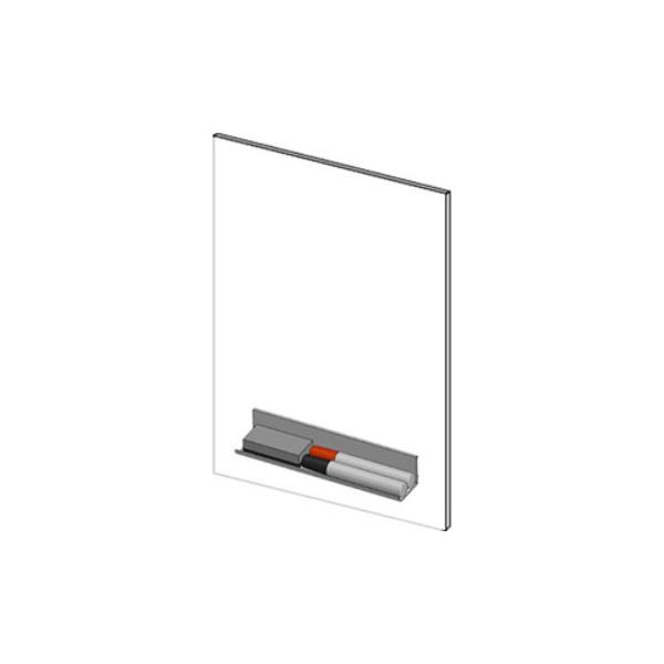 ピタッと吸着シート(吸着式ホワイトボードシート) マグネットマーカー(黒・赤)・トレイ・イレーザー付き 磁石対応 900×600mm