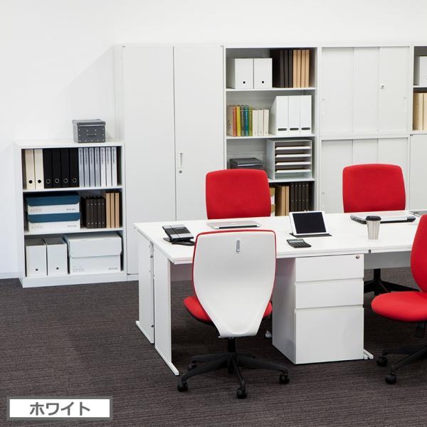 法人様限定 スチール書庫アーチー 下置き用両開きタイプ 幅800×奥行400×高さ1100mm|officecom|04