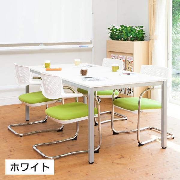 法人様限定 会議用テーブル ミーティングテーブル 幅1200×奥行600×高さ720mm ホワイト・ナチュラル・ダークブラウン officecom 04
