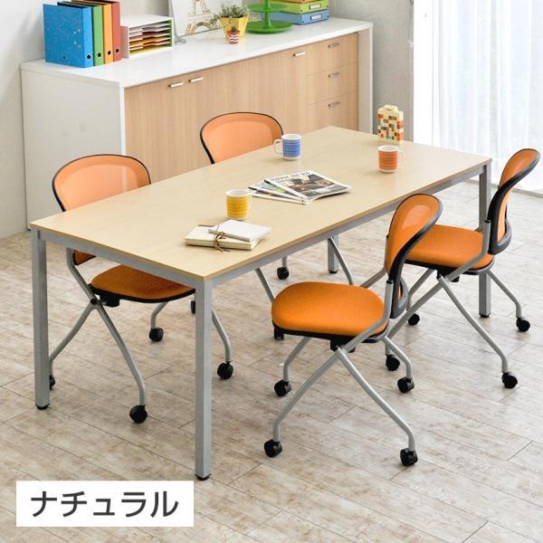 法人様限定 会議用テーブル ミーティングテーブル 幅1200×奥行600×高さ720mm ホワイト・ナチュラル・ダークブラウン officecom 05