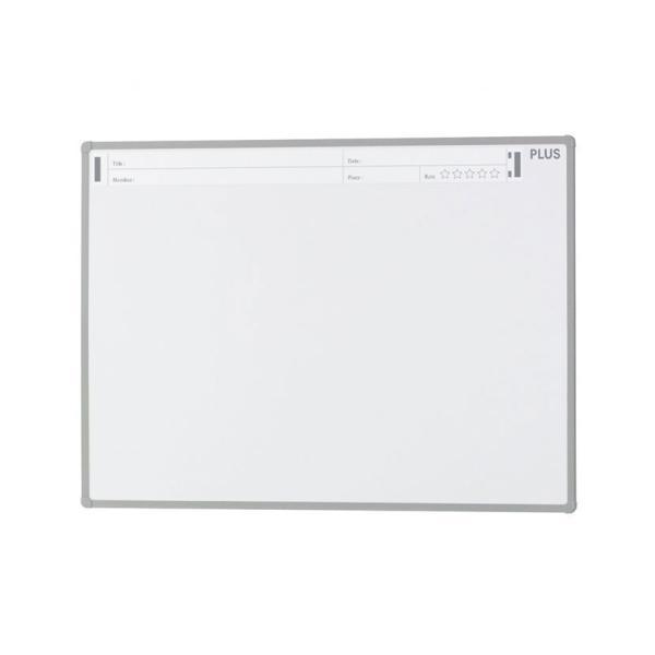 PLUS(プラス) ホワイトボード PASHABO(パシャボ) 1171×871mm 壁掛け スチール製 スマホ対応 幅1200×奥行20×高さ900mm