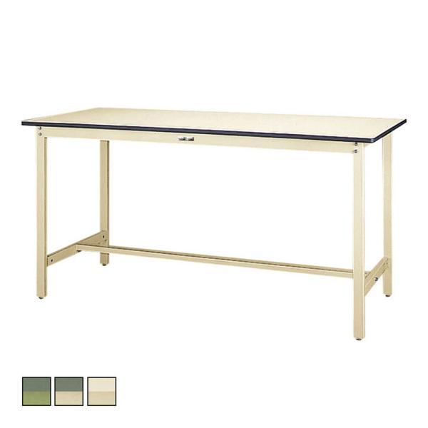 山金工業 ワークテーブル300シリーズ 固定式 塩ビシート天板 SWRH-1860 幅1800×奥行600×高さ900mm