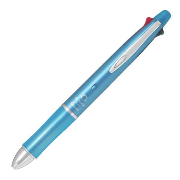 ドクターグリップ4+1 油性ボールペン 0.5mm 極細 BKHDF1SEF-IL [アイスブルー]