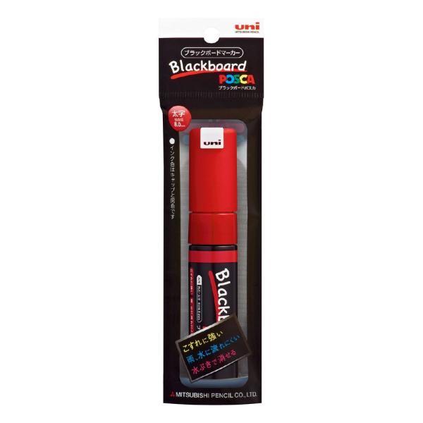 <三菱鉛筆>ブラックボードポスカ 角芯 太字 赤 PCE2508K1P.15