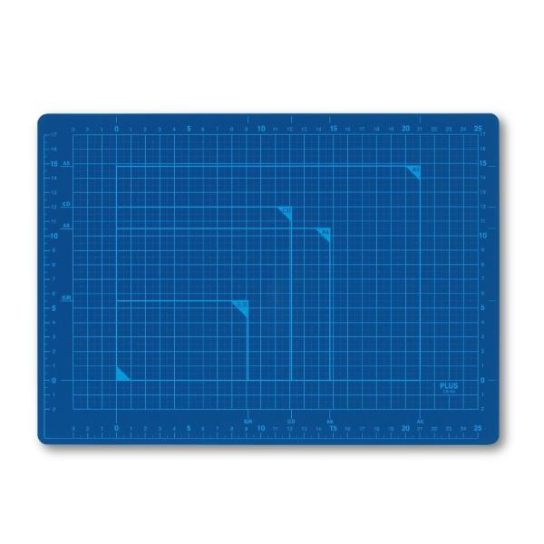 プラス(PLUS) カッターマット カッティングマット A4 ブルー CS-A4 BL 48-571