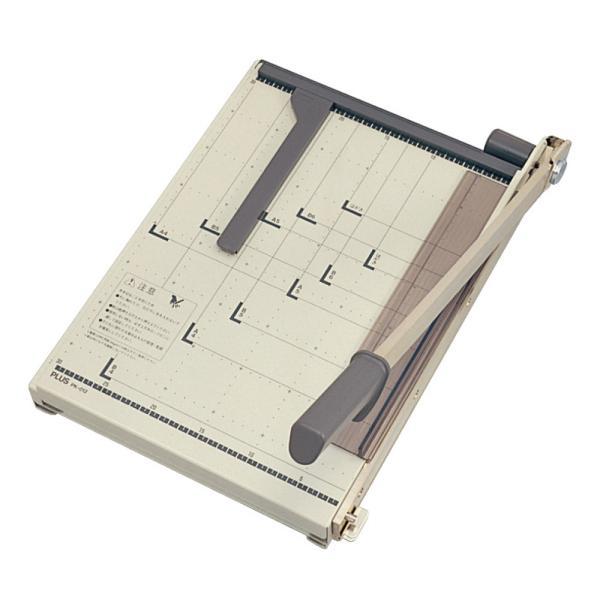プラス(PLUS) 裁断機 ペーパーカッター はがき/B6/A5/B5/A4/B4対応 PK-01212-772