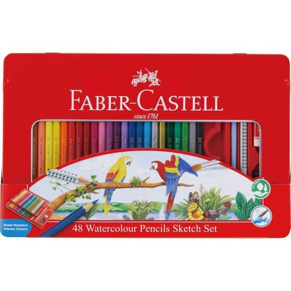 ファーバーカステル(FABER-CASTELL) 水彩色鉛筆 48色セット TFC-WCP/48C
