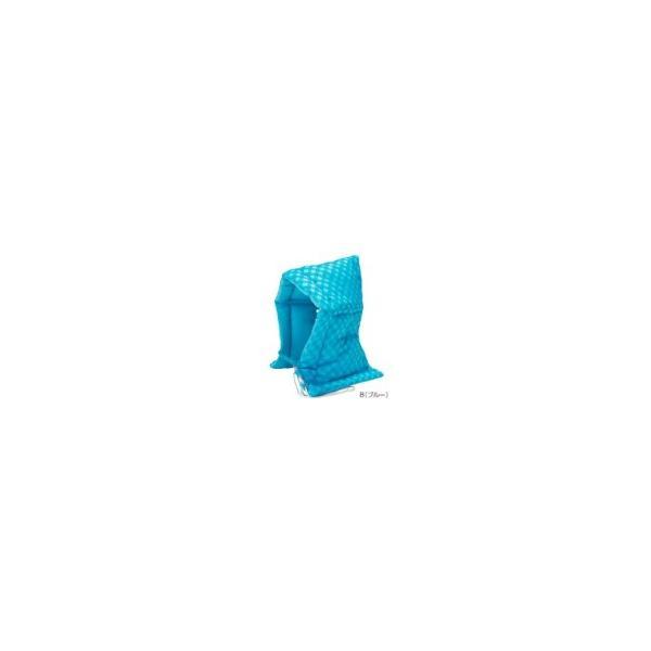 ナカバヤシ 学童用防災ずきん(チェック柄) ブルー BZ-102-B 小学生用 アルミ笛付