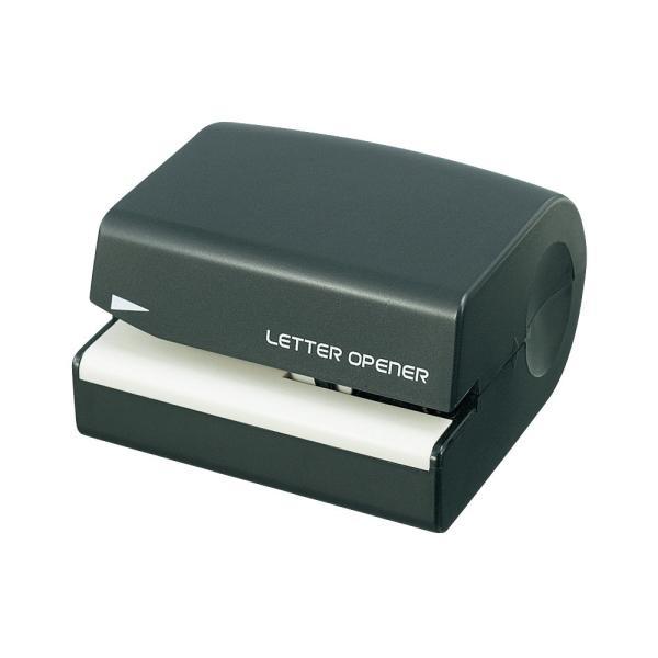 プラス(PLUS)レターオープナー 電動 ブラック OL-001 電池式 35-131