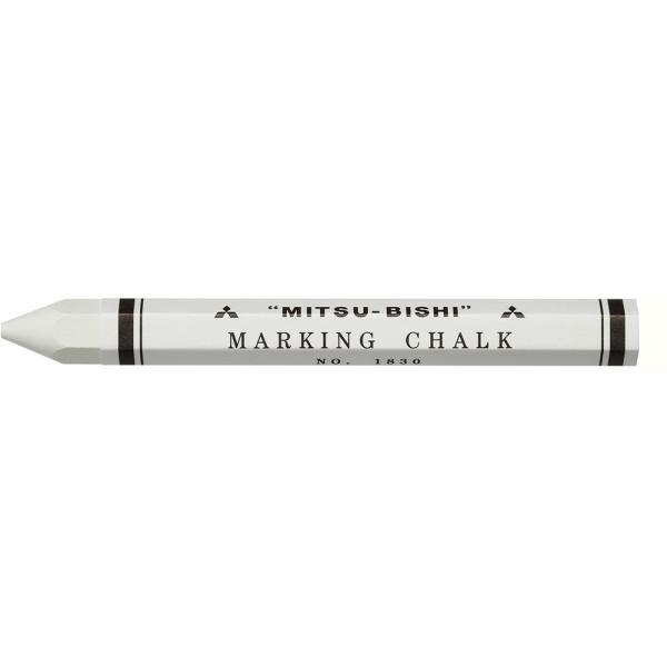 三菱鉛筆 マーキングチョーク 色鉛筆1830-1 白 12本入